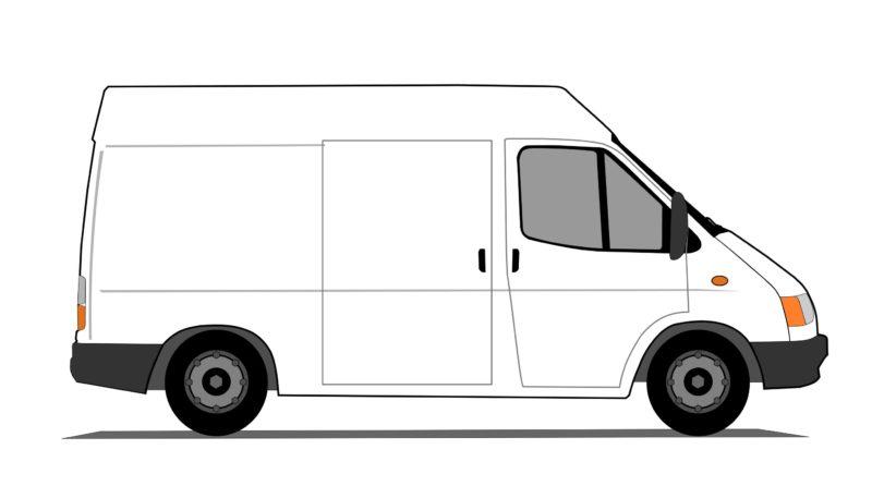 Van Clipart Goods In Transi...