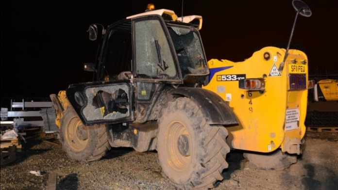 image-construction-vehicles-damaged-by-vandals-at-edinburgh-gateway
