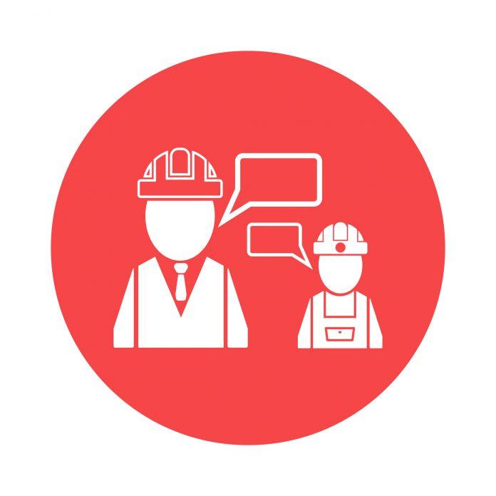 construction worker boss