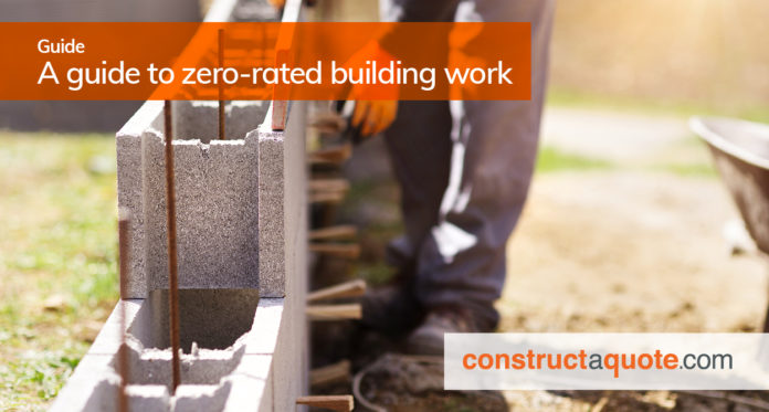 zero rated building work