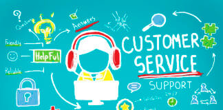 41318711 - customer service call center agent care concept