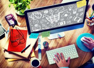 41464533 - online marketing strategy branding commerce advertising concept