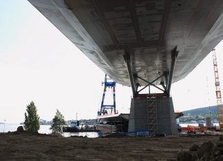 bridge getting new part view from beneath