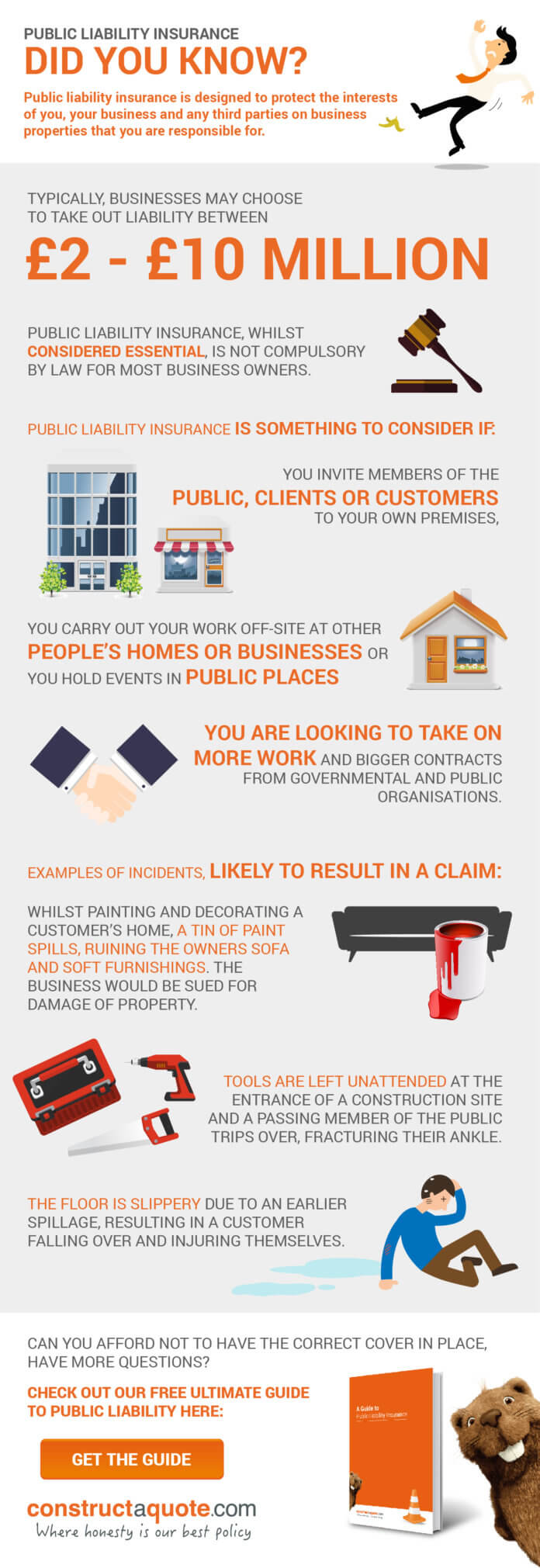 Public liability insurance infographic constructaquote.com