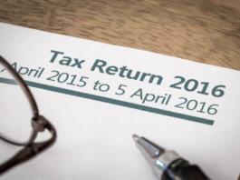 Self-assessment tax return form