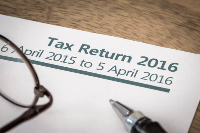 Self-assessment tax return form