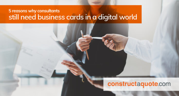 do consultants need business cards