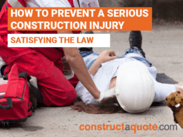 How To Prevent A Serious Construction Injury And Satisfy The Law
