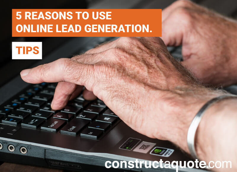 Online Lead Generation   constructaquote