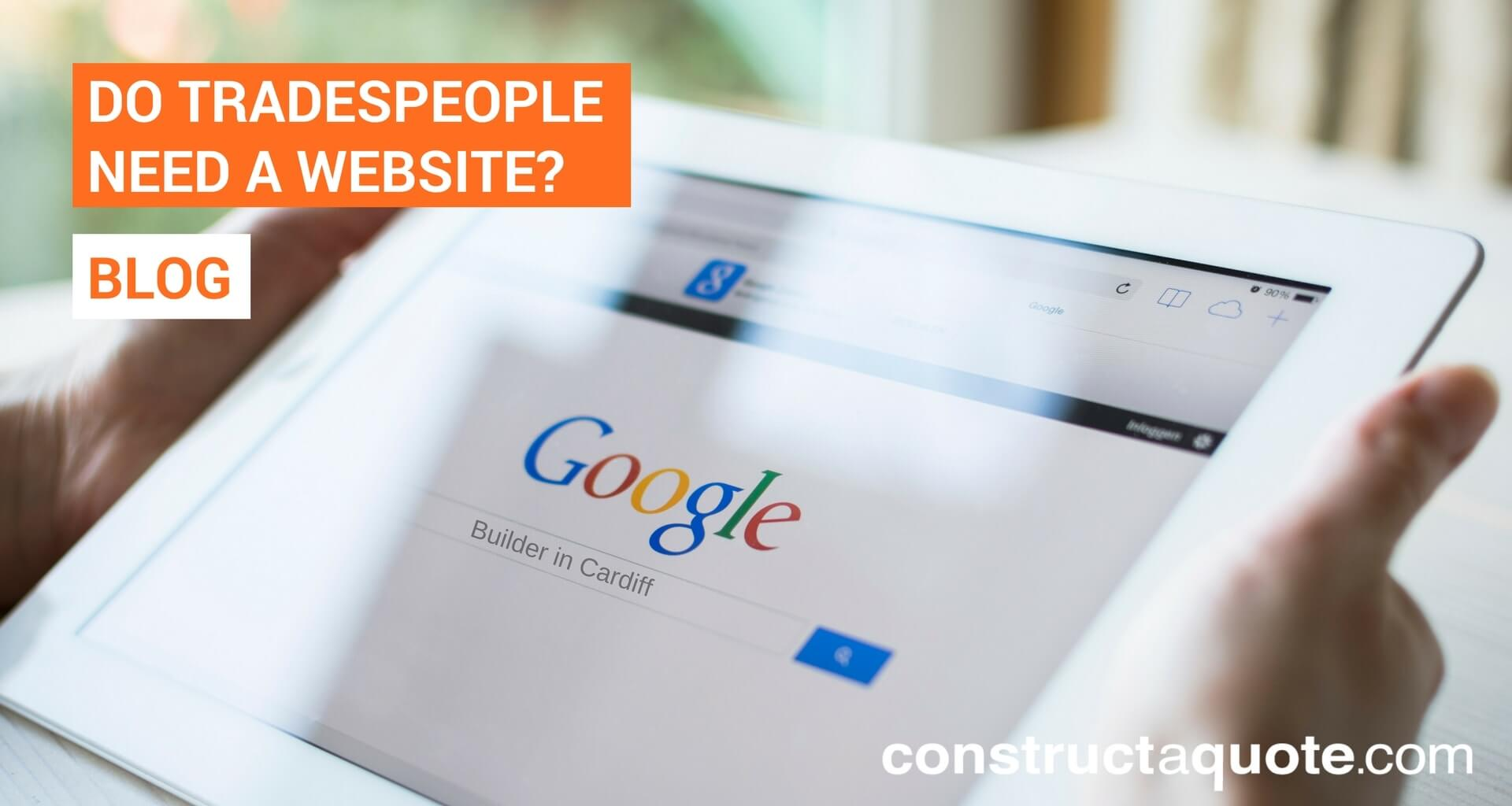 Do tradespeople need a website?