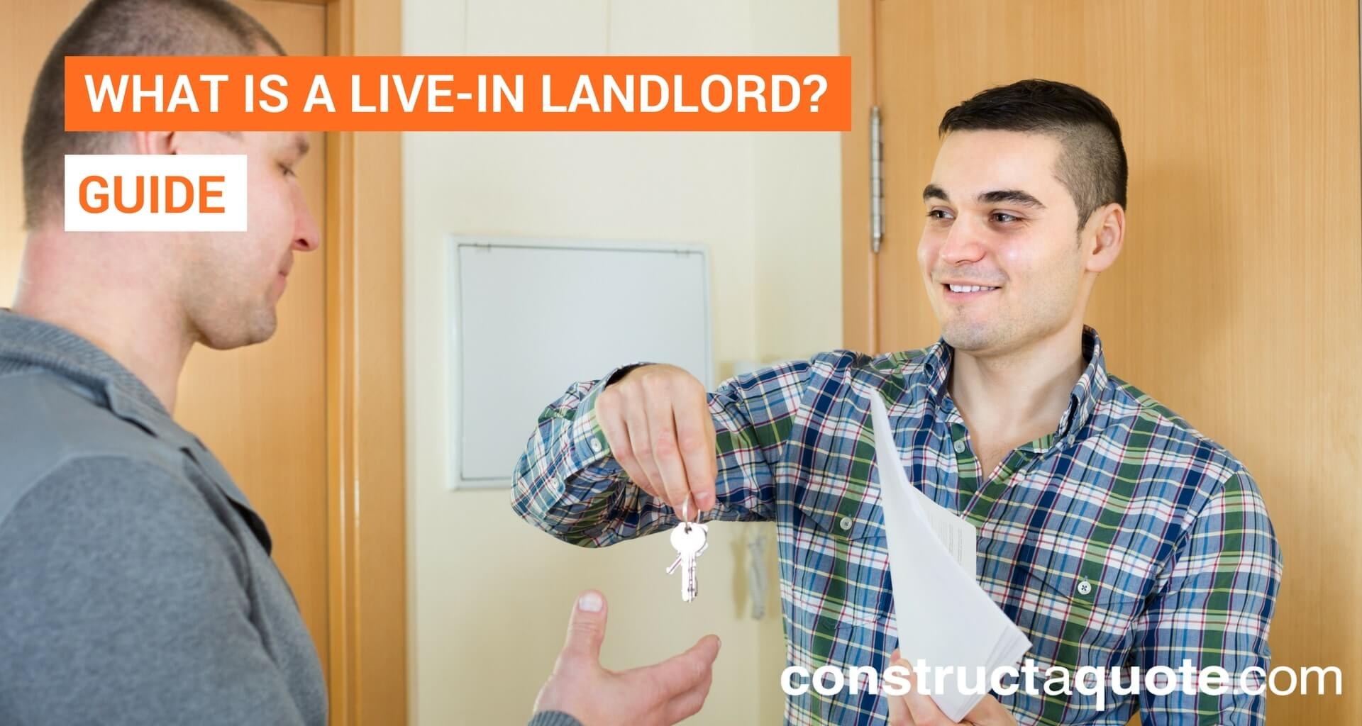 What is a live-in landlord?