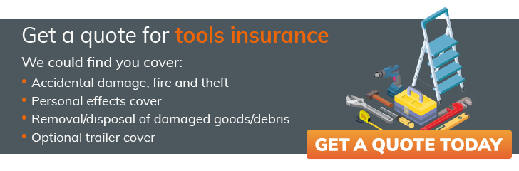 Get a quote for tools insurance from constructaquote.com