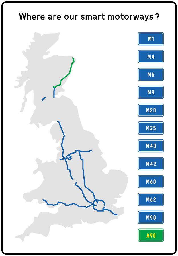 smart motorways map