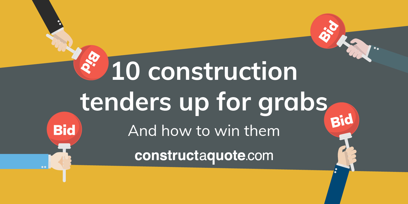 10 construction tenders up for grabs | constructaquote com